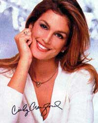 Supermodel Cindy Crawford